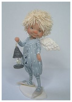 """Photo from album """"Лесной народец Diane Guelinckx De on Yandex. Clay Dolls, Doll Toys, Elves And Fairies, Baby Fairy, Paperclay, Waldorf Dolls, Fairy Art, Fairy Dolls, Doll Crafts"""
