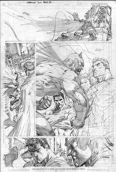 Drawing Dc Comics Jim Lee Pencils by lobocomics - Comic Book Pages, Comic Book Artists, Comic Artist, Comic Books Art, Storyboard, Jim Lee Art, Comic Style Art, Comic Layout, Marvel Art