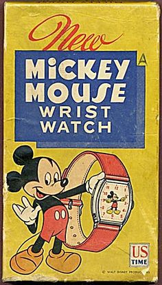 """Vintage Watch Vintage Mickey Mouse Watch Box - I had one of these.is it really """"vintage"""". Disney Mickey Mouse, Disney Fan, Mickey Mouse Watch, Mickey Mouse Club, Mickey Mouse And Friends, Disney Toys, Disney Dream, Disney Magic, Disney Movies"""