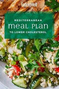 Mediterranean Meal Plan to Lower Cholesterol Heart Healthy Diet, Heart Healthy Recipes, Healthy Diet Plans, Diet Meal Plans, Healthy Eating, Healthy Meal Planning, Dash Diet Meal Plan, Healthy Choices, Low Cholesterol Diet Plan