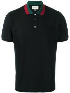 Gucci striped collar polo shirt
