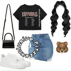 Cute Comfy Outfits, Cute Casual Outfits, Dope Outfits, Cute Summer Outfits, Stylish Outfits, Teen Fashion Outfits, Outfits For Teens, Black Girl Fashion, Back To School Outfits