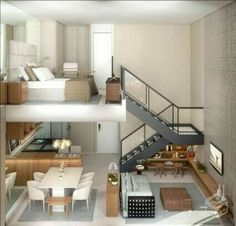 Loft and open living area