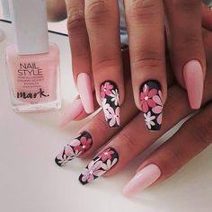 In seek out some nail styles and some ideas for your nails? Here's our set of must-try coffin acrylic nails for trendy women. Best Acrylic Nails, Acrylic Nail Designs, Nail Art Designs, Brown Acrylic Nails, Stylish Nails, Trendy Nails, Cute Nails, Fabulous Nails, Perfect Nails