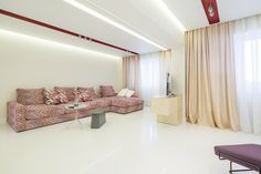 minimalist living room orders/price offers at: office Minimalist Apartment, Minimalist Living, Marsala, Curtains, Living Room, Interior Design, House, Ideas, Home Decor