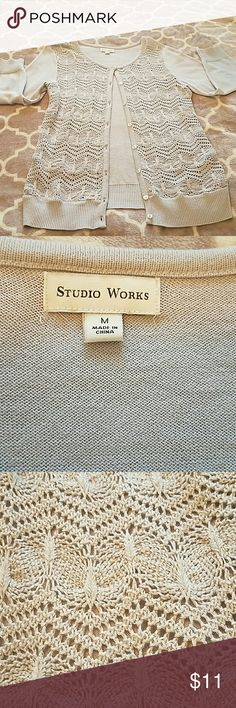 Grey Size M button up cardigan Excellent condition! Great with any outfit! Studio works Tops