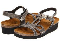 Naot Footwear Rachel leather metal, black patent 1.75 sz38 135.00