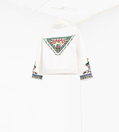 Image 2 of Embroidered jacket from Zara