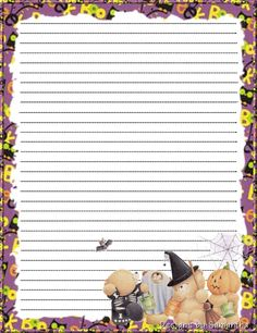 Halloween stationary