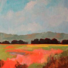 """Eastern Field"" by Jamee Linton Original Paintings, Fine Art, Landscape, Abstract, Mountain, Inspiration, Google Search, Pintura, Inspiring Art"