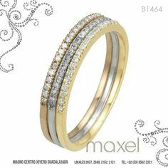 Encantadora churumbela en 3 estilos de oro: amarillo, blanco y rosado.