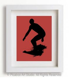 Surfing art, boy room decor by PicabooArtStudio, $9.99