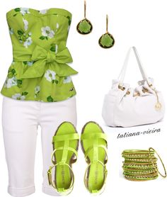 """""""182"""" by tatiana-vieira on Polyvore  Fun summer wear - love the color"""