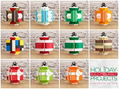 Holiday Build-it-Yourself 2013: All Lantern Ornament variations. Kits available at http://powerpig.storenvy.com