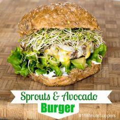 Sprouts & Avocado Burger