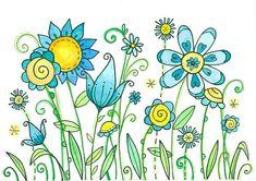 Blueberry Crumble Moon Cookie Gallery Print by mooncookiegallery Art Floral, Watercolor Cards, Watercolor Flowers, Watercolor Paintings, Watercolour, Doodle Drawings, Doodle Art, Envelopes Decorados, Moon Cookies