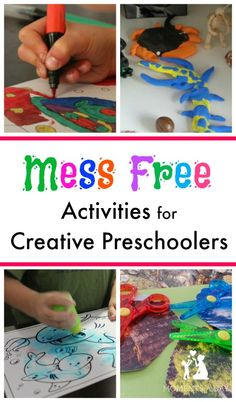 Easy activities to keep your preschooler creative without the mess