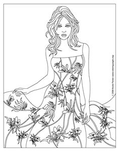 fashion cilouring pages Colouring Pages (page 3)