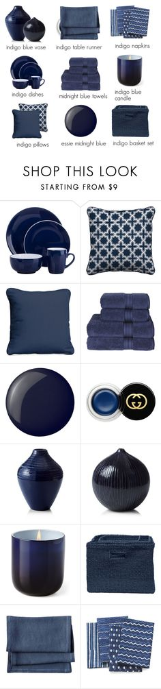 """""""blue crush"""" by countrycousin ❤ liked on Polyvore featuring interior, interiors, interior design, home, home decor, interior decorating, Improvements, Christy, Essie and Gucci"""