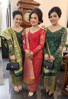 Dress Brukat, Kebaya Dress, Kebaya Brokat, Sari, Embroidery, Dresses, Model, Jewelry, Fashion