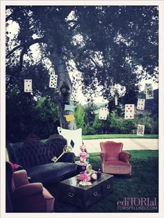Perfect outdoor setting for a mad tea party!  {Tori Spelling}