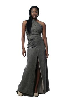 Designer Italian Herringbone Kilt Ensemble with Fur Embellishment - RHOs