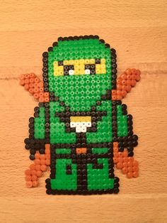 Ninjago Lloyd made of ironing beads- Ninjago Lloyd aus Bügelperlen Ninjago Lloyd made of ironing beads - Pokemon Perler Beads, Hama Beads Minecraft, Pearler Beads, Minecraft Crafts, Lego Ninjago, Pearl Beads Pattern, Pixel Art Templates, Hama Beads Design, Small Cross Stitch