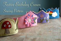 Birthday crown sewing pattern - $$
