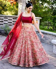 Lehenga ideas with floral prints