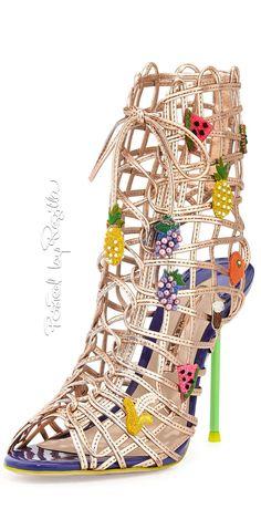 Sophia Webster caged fruit embellished bootie | House of Beccaria#