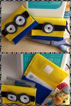 Minion felt card-holder created specially for my dear twin friends - used for their business cards, credit cards, etc.