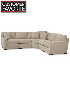 Radley Fabric 5 Piece Modular Sectional Sofa
