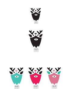 cyklops design logo 01 by Kata Kerekes, via Behance