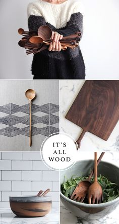 Lovely round up of wooden objects