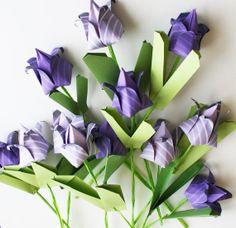 Origami Tulips - Handmade paper, totally unique origami flower bouquet, Origami Sculpture - Paper Bouquet$68 NikkiCrossApplesauce at Etsy