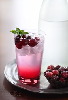 Citrus Cranberry Gin N tonic - alcohol free version also available