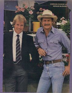 Simon & Simon TV series - Jamison Parker and Gerald McRaney Elvis And Priscilla, Old Shows, Great Tv Shows, Vintage Tv, My Childhood Memories, Me Tv, Teenage Years, Classic Tv, Gerald Mcraney
