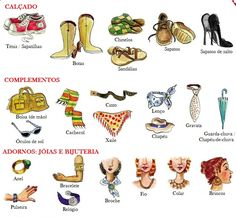 O calçado e os complementos: vocabulário.