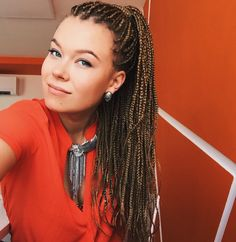 Box braids white girl