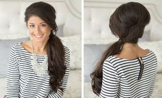 Side Ponytail With Side Part