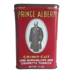 This vintage Prince Albert Crimp Cut lithograph print metal tobacco tin oval box is a very special and unique piece to add to your collectio. Vintage Tins, Vintage Dishes, Vintage Stuff, Antique Dishes, Vintage Party, Vintage Holiday, Vintage Kitchen, Antique Glassware, Antique Bottles