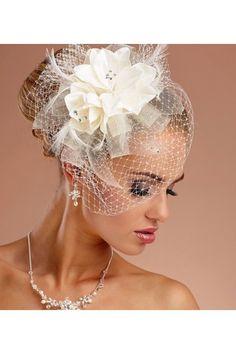coiffe peigne crmonie coiffure marie chignon mariage bibi chapeau rtro vintage - Bibi Mariage Voilette