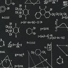 Robert Kaufman - Science Fair - Equations (Black) Fabric