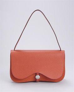 Hermes LUIB Colorado Leather & Canvas Shoulder Bag