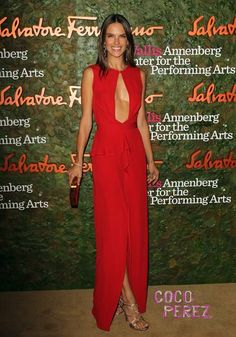 Alessandra Ambrosio shows the true meaning of cleavage at the Wallis Annenberg Center For the Performing Arts Inaugural Gala.