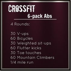 Crossfit Ab Workout - Eat:Watch:Run Find more like this at gympins.com