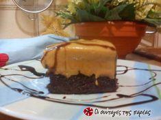 Κολασμένη σοκολατόπιτα με καραμέλα γάλακτος Cheesecake Cupcakes, Cheesecakes, Cupcake Cakes, Muffins, Food And Drink, Pudding, Chocolate, Eat, Desserts