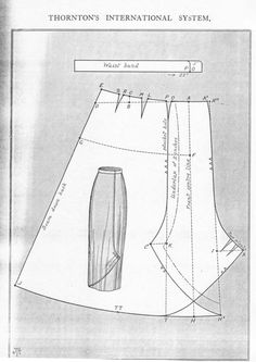An iconic 'side-fastening skirt'. These were often used in walking suits. Mid to late #1910s #patterninlink