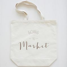 Going to Market Reusable Grocery Tote Bag $15