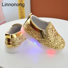 Best Offer $5.92, Buy 2017 New Baby Children Shoes Kids Led Flash Sneakers Spring Autumn Fashion Sequin Sneakers Girls Princess Lightning Shoes 21-30